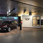 Mini Cooper on display at the BMW Headquarters
