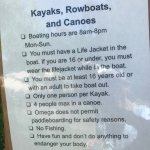 Lake rules. Good to know if you have kids.