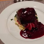 Lamb w/ blueberry sauce