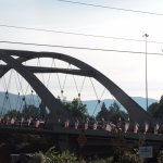 Flag day on the bridge