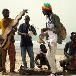Musicians on the beach.