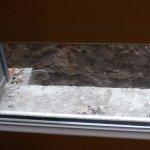 rebord de fenêtre dégueulasse