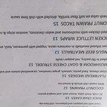 Menu options, Bayside Bistro and Lounge  240 Dogwood St | at Quality Resort Bayside, Parksville,