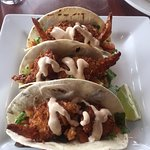 Prawn tacos, Bayside Bistro and Lounge  240 Dogwood St | at Quality Resort Bayside, Parksville,