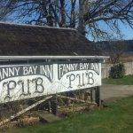 Exterior signage, Fanny Bay Inn  7480 Island Hwy S, Fanny Bay, British Columbia