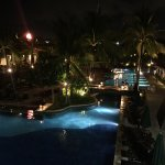 One area of the pool at night
