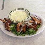 Coconut shrimp with key lime sauce