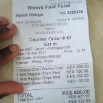 This is a receipt of my purchase. Please correct me if am wrong as per my review.