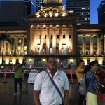 City Hall of the Brisbane in the Evening