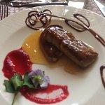 Présentation de l'assiette de foie gras