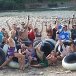 Having fun down the river together!