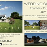 Wedding Open Evening Thursday 10th August 4pm - 8pm