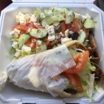 Gyro and a salad to go...