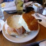 YUM - Clam Chowder in a bread bowl