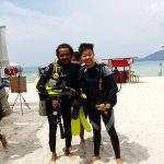 My Dive Instructor from Brazil.
