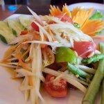 """Papaya salad - """"ok"""" - not great"""