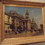 An old Melbourne street scene painted by Dutch artist Jacques FRancois Carabain