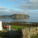 View from Fisherman's Cottage across to Davaar Island