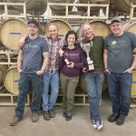 The winemaking team with the Governor's Cup for Best-in-Show for our Strawberry Honey Wine