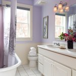 Large bath associated with the Owasco across the hall, clawfoot, double sinks, plush robes provi