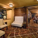 Newly renovated waiting area at The Steakhouse at Paso Robles Inn