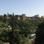 Shot of the Alhambra from the Camino del Sacromonte