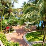View from balcony towards pool