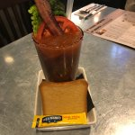 The perfect starter! a bloody mary that turns into a BLT, who could ask for more???