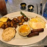 Basic breakfast, the only non-belly buster on the menu!