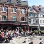 Aarhus, Cross Cafe, outside seating