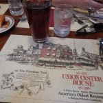 Placemat and Samuel Adams Brown Ale