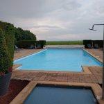 piscine extérieur avec vue sur les vignes