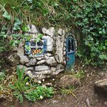 Fairy house onthe short walk, many more to be found in the bushes