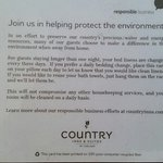 Hotels So called Environmental efforts