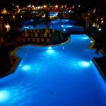 the pools are stunning at night