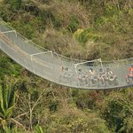 The longest suspension bridge in the world at Puerto vallarta