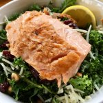 Chopped Kale Salad with Salmon