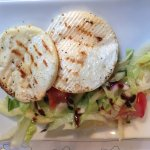 Grilled Camembert with Garlic and fresh Salad