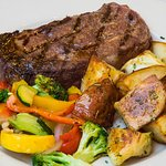 Branding Iron Steak & Potatoes