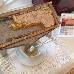 Honey comb at breakfast