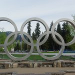 Olympic rings from the Winter Olympics 2010.