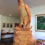 Osprey carved statue.