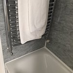 Heated towel rail.