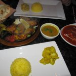 Himalayan Grill and Butter Chicken (safrom rice, salad and flat bread)