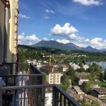 Art Deco Hotel Montana Luzern - Me enjoying the view from room.