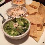 Three Dip Appetizer - Guacamole, Smoked Salmon Dip, Pimento Cheese