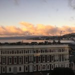 Wonderful view of Wellington Harbour at Sunset from room