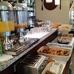 Breakfast buffet at adjoining restaurant