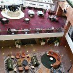 View of Atrium Lounge and hotel lobby from above
