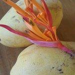 Mango decoration on table
